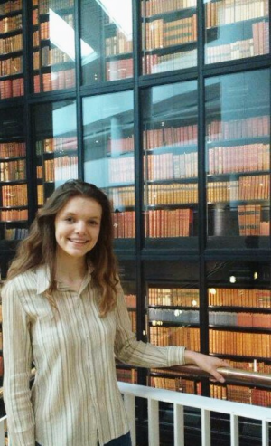 Photo of me at the book tower