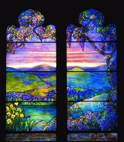 Tiffany stain glass window