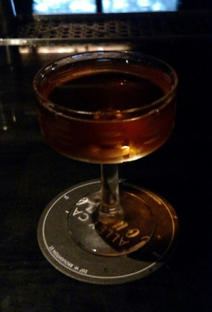 The Widow's Kiss at Alley Cat Lounge is intriguing and tasty.