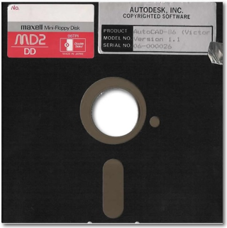 AutoCAD Version 1.1 Floppy Disk