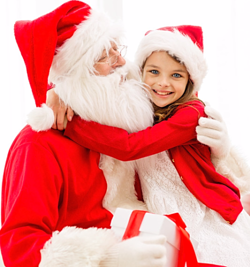 Girl-with-santa-claus
