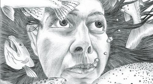 Detail from strange new world by Wenting Li
