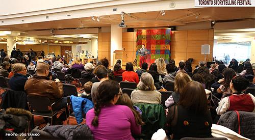 Story Jam at Toronto Reference library photo by Joe Tamko