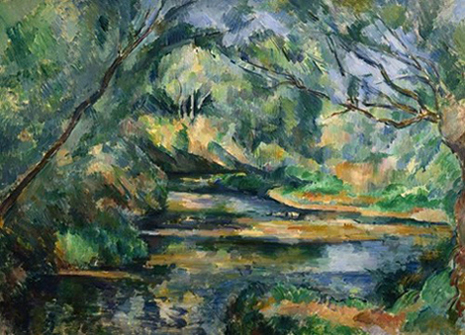 Cezanne's Brook from the permanent collection of my lovely Ohio's own Cleveland Museum of Art