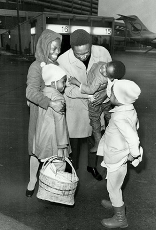 Dr Fidel Ezemenari and his sister Mary were reunited with his three children, Kene, Chinyere and Uzo following a five-year separation