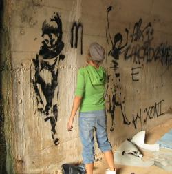 Spain Alicante tunel stencils