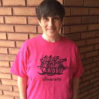Susanna wearing a T shirt