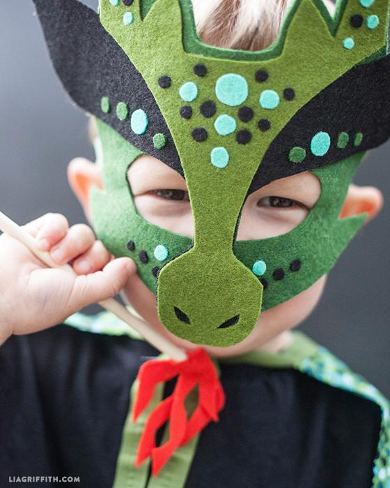 No Sew Felt Dragon Mask