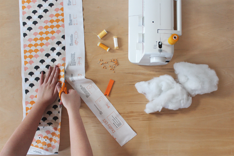 learn to make your own sustainable draft snake with Etsy!