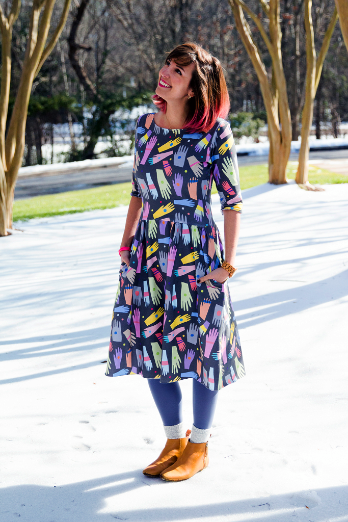 Sew your own Moneta dress with Sprout Patterns and Cotton Spandex Jersey