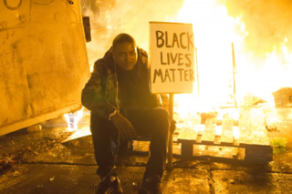 Black lives matter fire