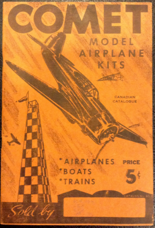 Comet model airplane kits catalogue